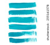 Turquoise Ink Vector Brush...