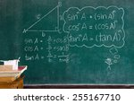mathematics formulas on a... | Shutterstock . vector #255167710