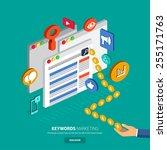 flat designconcept make money... | Shutterstock .eps vector #255171763