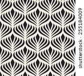 seamless pattern. elegant... | Shutterstock .eps vector #255184009