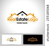real estate logo design. house... | Shutterstock .eps vector #255185068