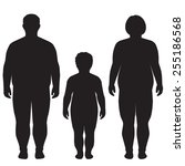 vector fat body  weight loss ... | Shutterstock .eps vector #255186568
