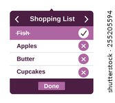 shopping list ui app page