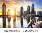 Skyline Of Dubai Marina At...