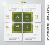 design clean number banners... | Shutterstock .eps vector #255213430