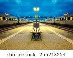 Night Train Station In Helsingor