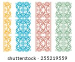 decorative elements set ... | Shutterstock .eps vector #255219559