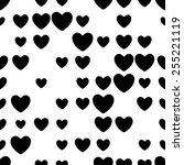 seamless heart pattern. vector...   Shutterstock .eps vector #255221119