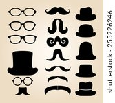 retro gentleman's set consists... | Shutterstock .eps vector #255226246