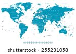 world map and navigation icons  ... | Shutterstock .eps vector #255231058
