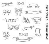doodle style banner  sketch...   Shutterstock .eps vector #255231259