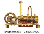 Vintage Steam Engine Isolated...