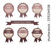 set of different vector labels... | Shutterstock .eps vector #255234538