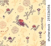elegance seamless pattern with... | Shutterstock .eps vector #255236356