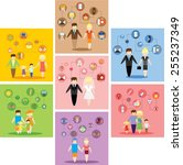 business concept flat icons set ... | Shutterstock .eps vector #255237349