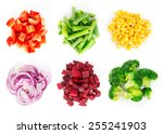 heaps of different cut... | Shutterstock . vector #255241903