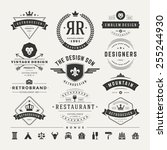 retro vintage insignias or... | Shutterstock .eps vector #255244930
