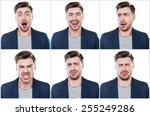 true emotions. collage of... | Shutterstock . vector #255249286