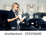 fashion business woman with... | Shutterstock . vector #255250600