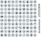 100 delivery icons  universal... | Shutterstock . vector #255252898