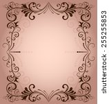 floral frame for invitation... | Shutterstock . vector #255255853