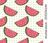 healthy diet seamless pattern.... | Shutterstock .eps vector #255256144