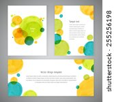 invitation card design with... | Shutterstock .eps vector #255256198