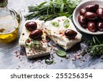Feta Cheese With Olives And...