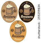 set labels for the beer with... | Shutterstock .eps vector #255259834