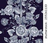 vector seamless background.... | Shutterstock .eps vector #255261133