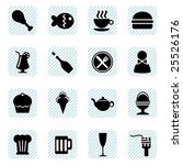 food icons vector | Shutterstock .eps vector #25526176