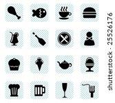 food icons vector | Shutterstock .eps vector #25526176