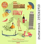 Italy Travel Background With...