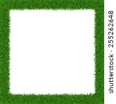 square grass border  with copy... | Shutterstock .eps vector #255262648