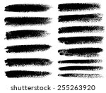 black ink vector brush strokes | Shutterstock .eps vector #255263920