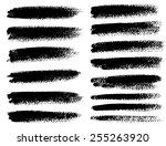 black ink vector brush strokes | Shutterstock .eps vector #255263920
