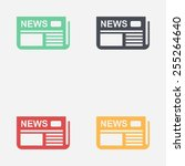 icon of news. flat design.