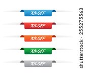 70  off paper tag labels | Shutterstock .eps vector #255275563