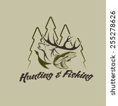 hunting and fishing vintage... | Shutterstock .eps vector #255278626
