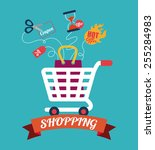 sales and retail design  vector ... | Shutterstock .eps vector #255284983
