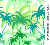palm trees  tropical landscape  ... | Shutterstock .eps vector #255287650