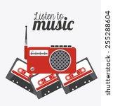 music design over white... | Shutterstock .eps vector #255288604