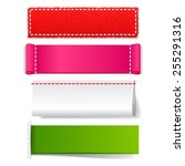 template realistic fabric label ...   Shutterstock .eps vector #255291316