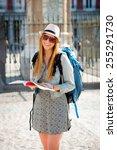 young happy attractive exchange ... | Shutterstock . vector #255291730
