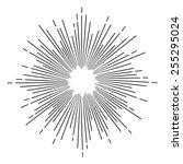 vintage monochrome star burst | Shutterstock .eps vector #255295024