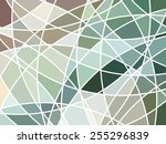 abstract geometric mosaic... | Shutterstock .eps vector #255296839