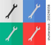 wrench vector icon. effect of...