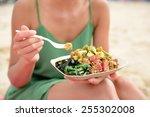 Poke Bowl Salad Plate. A...