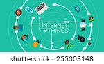 internet of things flat iconic
