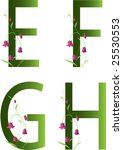 floral alphabet efgh | Shutterstock .eps vector #25530553